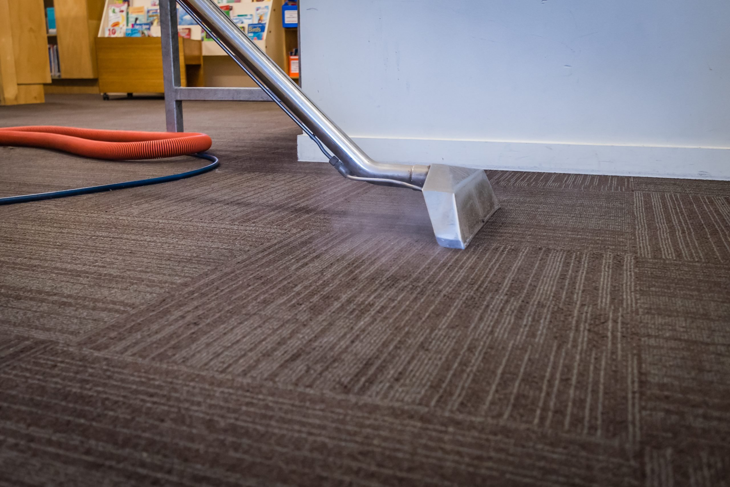 Brouwer Brothers Steamatic cleaning a carpet in Alsip, IL